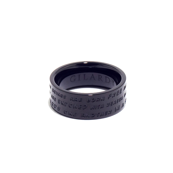 Anillo acero mujer t.20 - gris