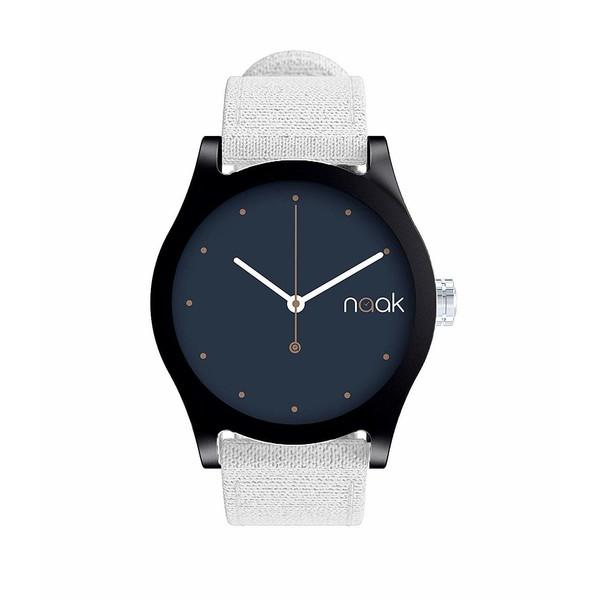 Reloj analógico nylon unisex - blanco
