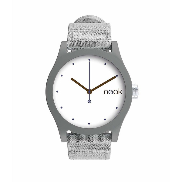 Reloj analógico unisex nylon - gris