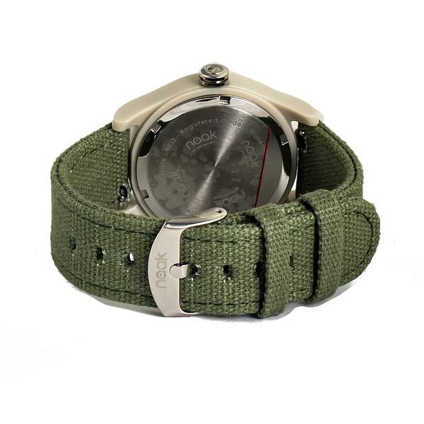 Reloj analógico nylon unisex - verde