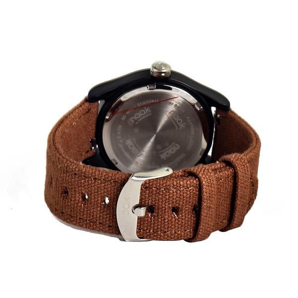 Reloj analógico nylon unisex - marrón