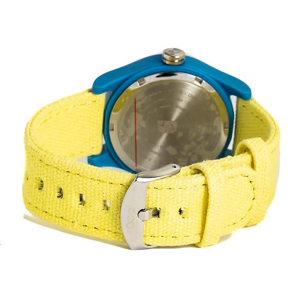 Reloj analógico nylon unisex - amarillo