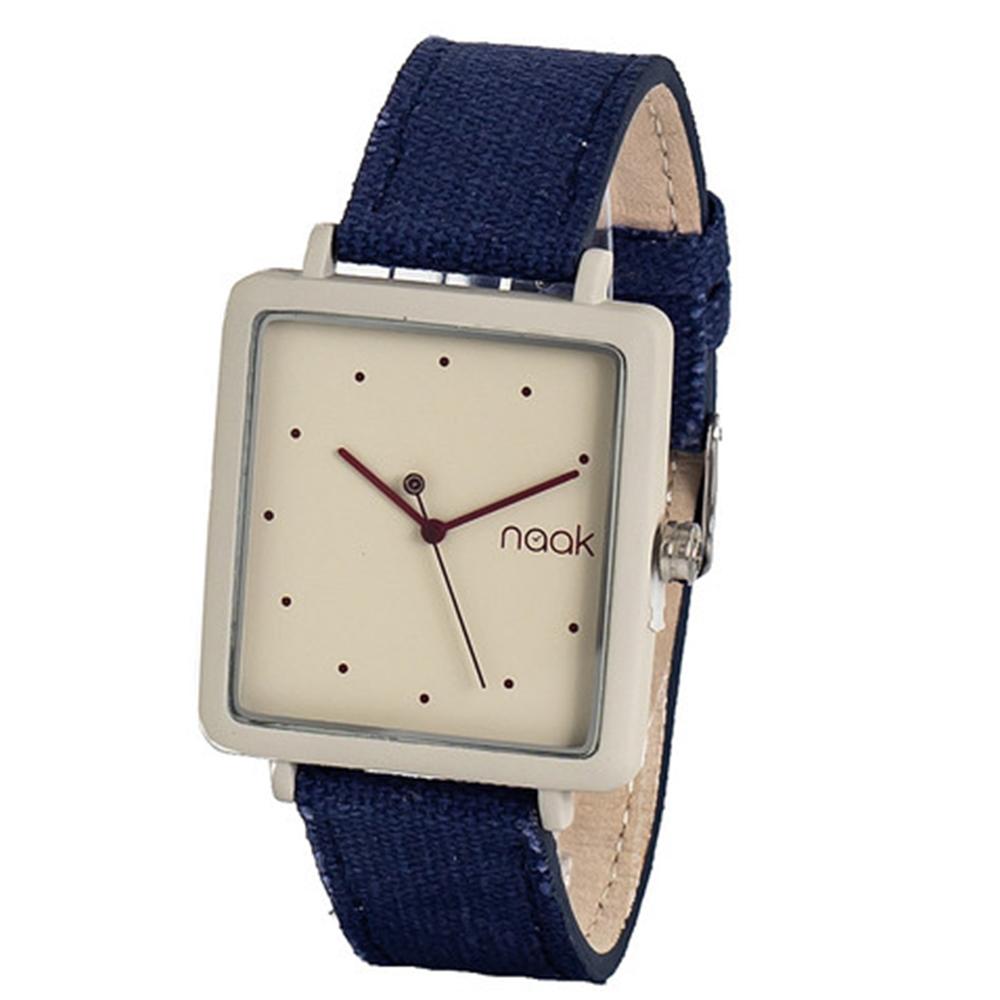 Reloj analógico nylon unisex - azul