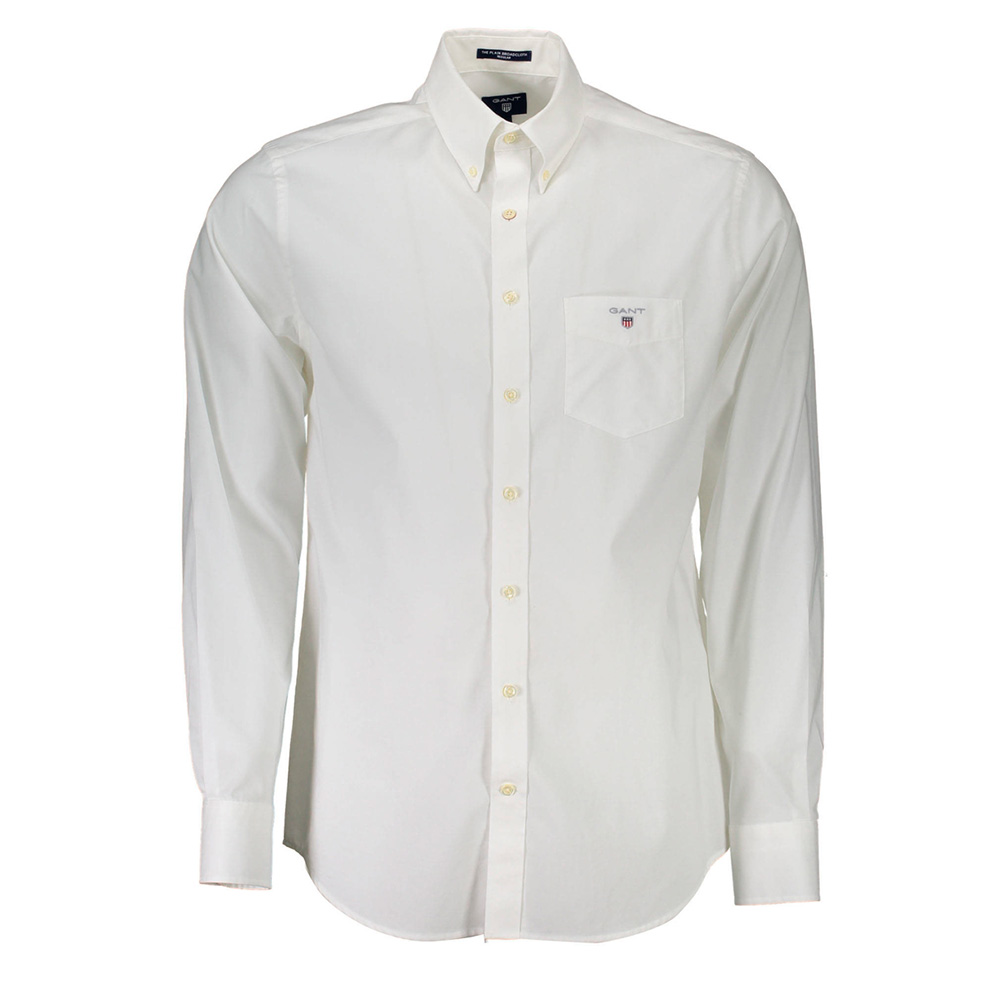 Camisa lisa hombre - blanco