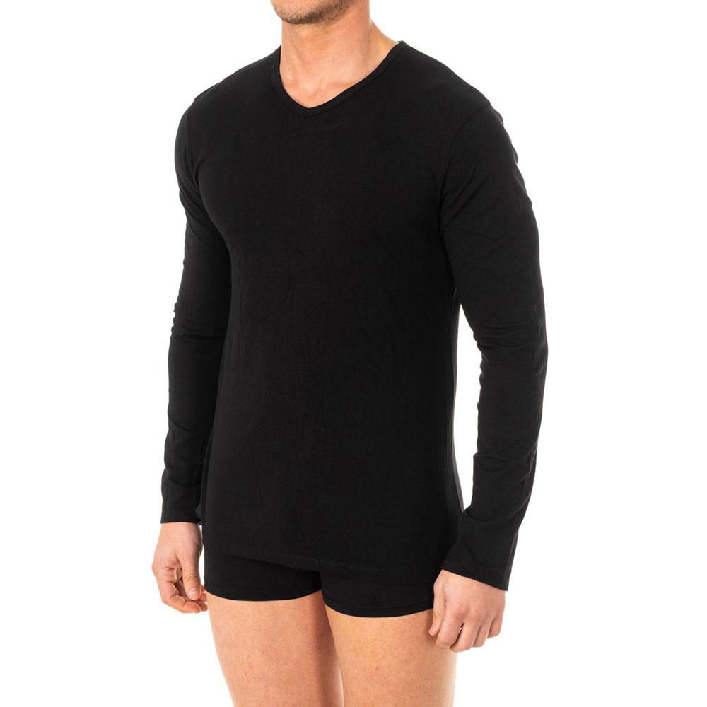 Camiseta interior m/larga hombre - negro