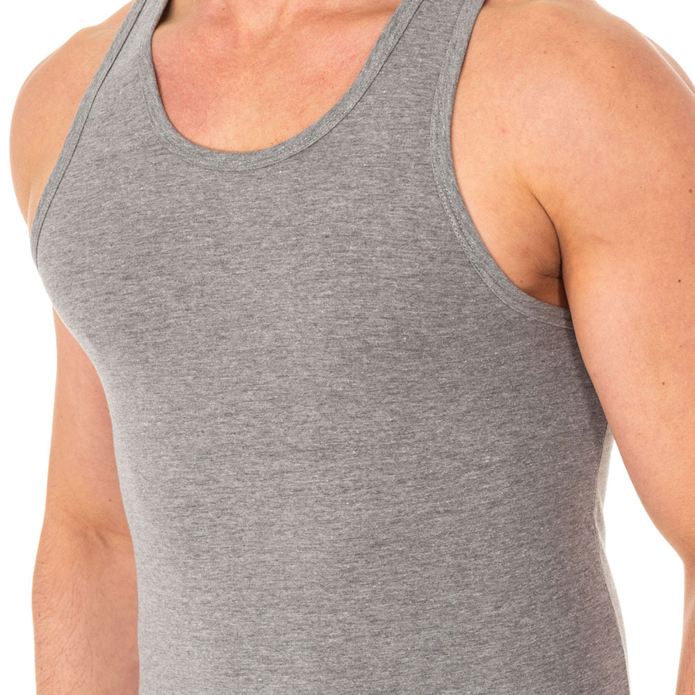 Camiseta interior tirantes hombre - gris