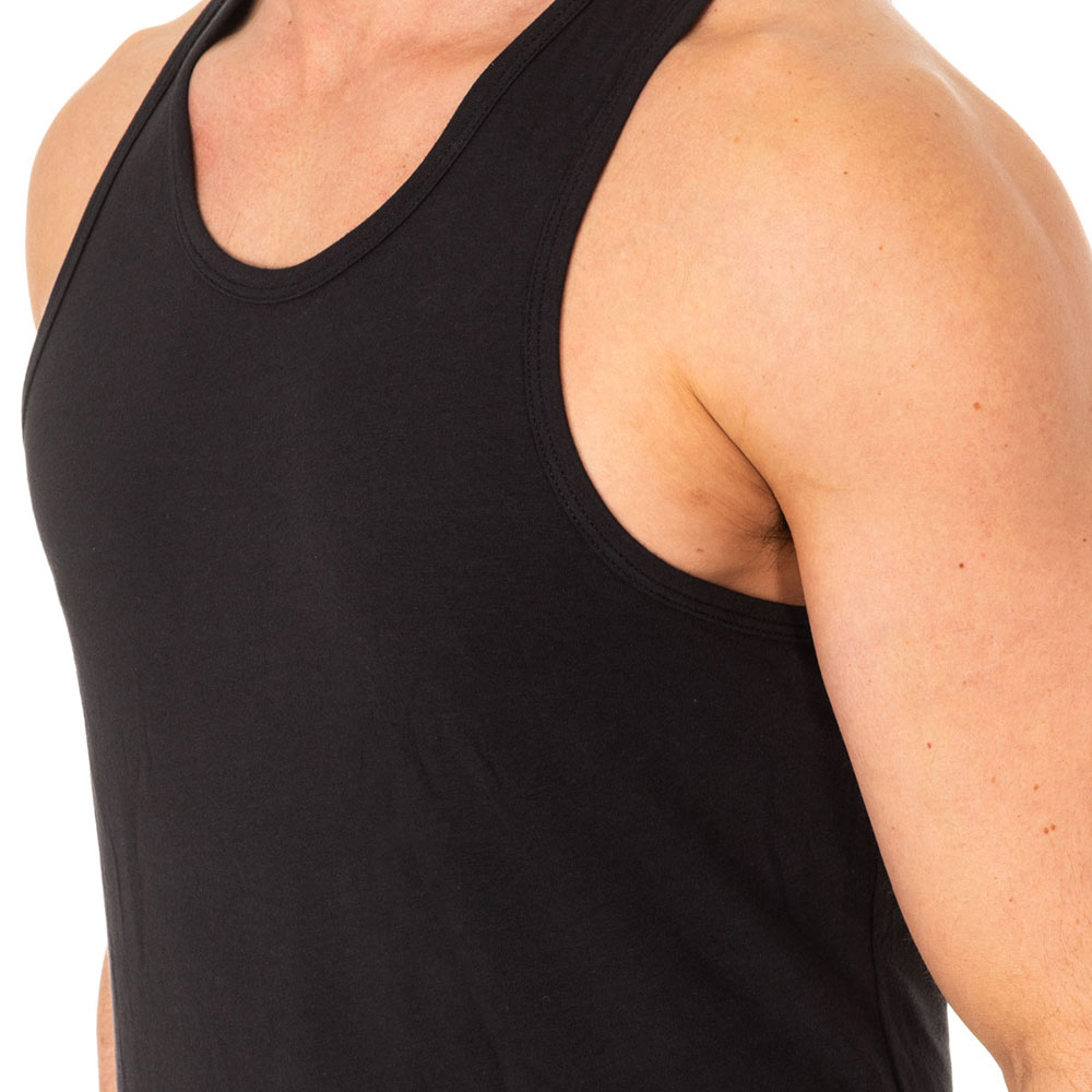 Camiseta interior tirantes hombre - negro