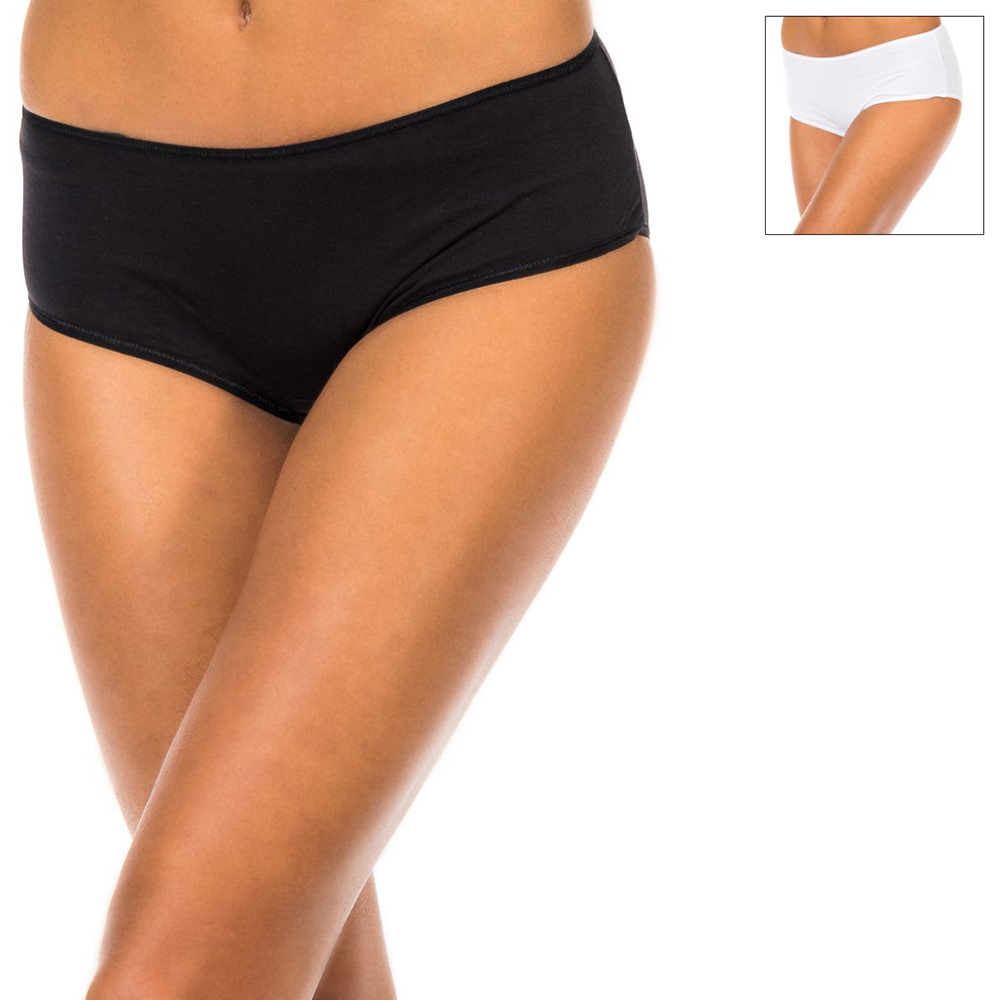 PACK 2 culottes mujer - negro/blanco