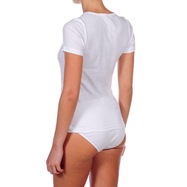 Pack 3 Camisetas m/corta mujer - blanco