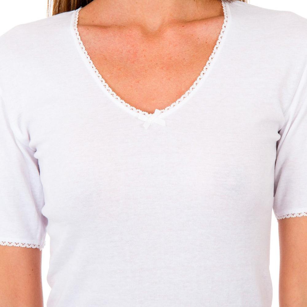 PACK 3 camiseta sra m/c thermal - blanco