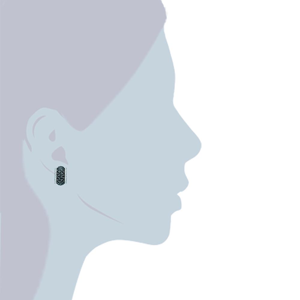 Pendientes semicirculo mujer  - negro
