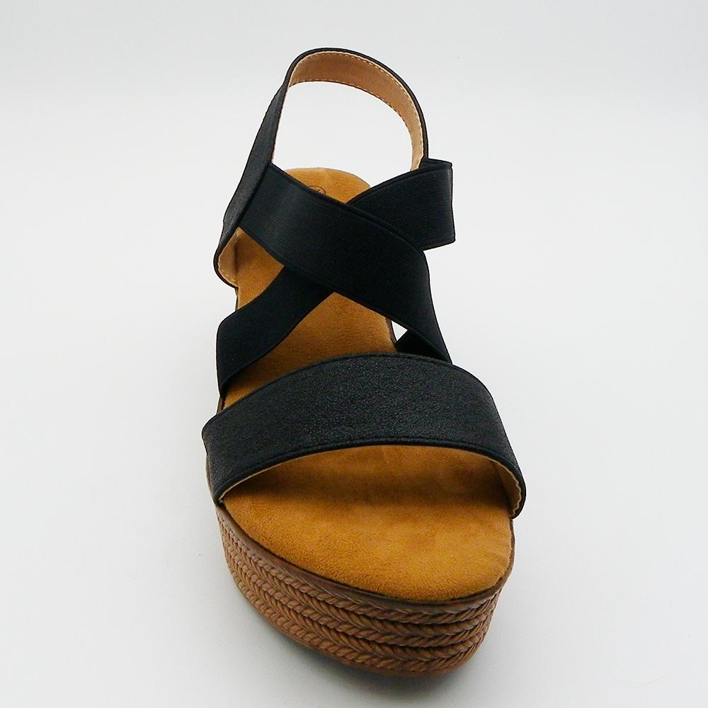 7cm Sandalia mujer - negro