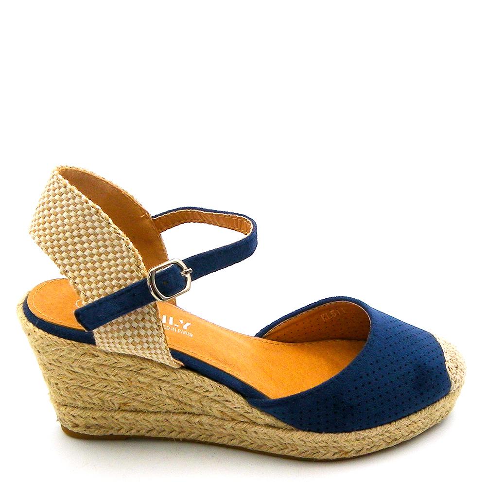 7,5cm Sandalia mujer - azul