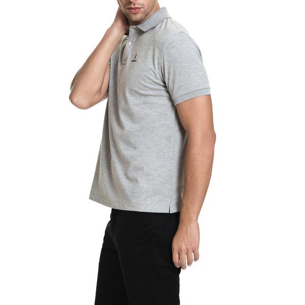 Polo m/corta slim fit hombre - gris