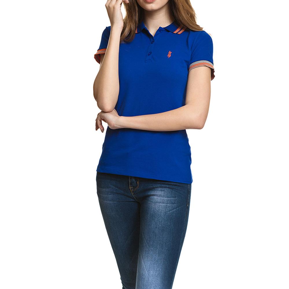 Polo m/corta mujer slim fit - azul