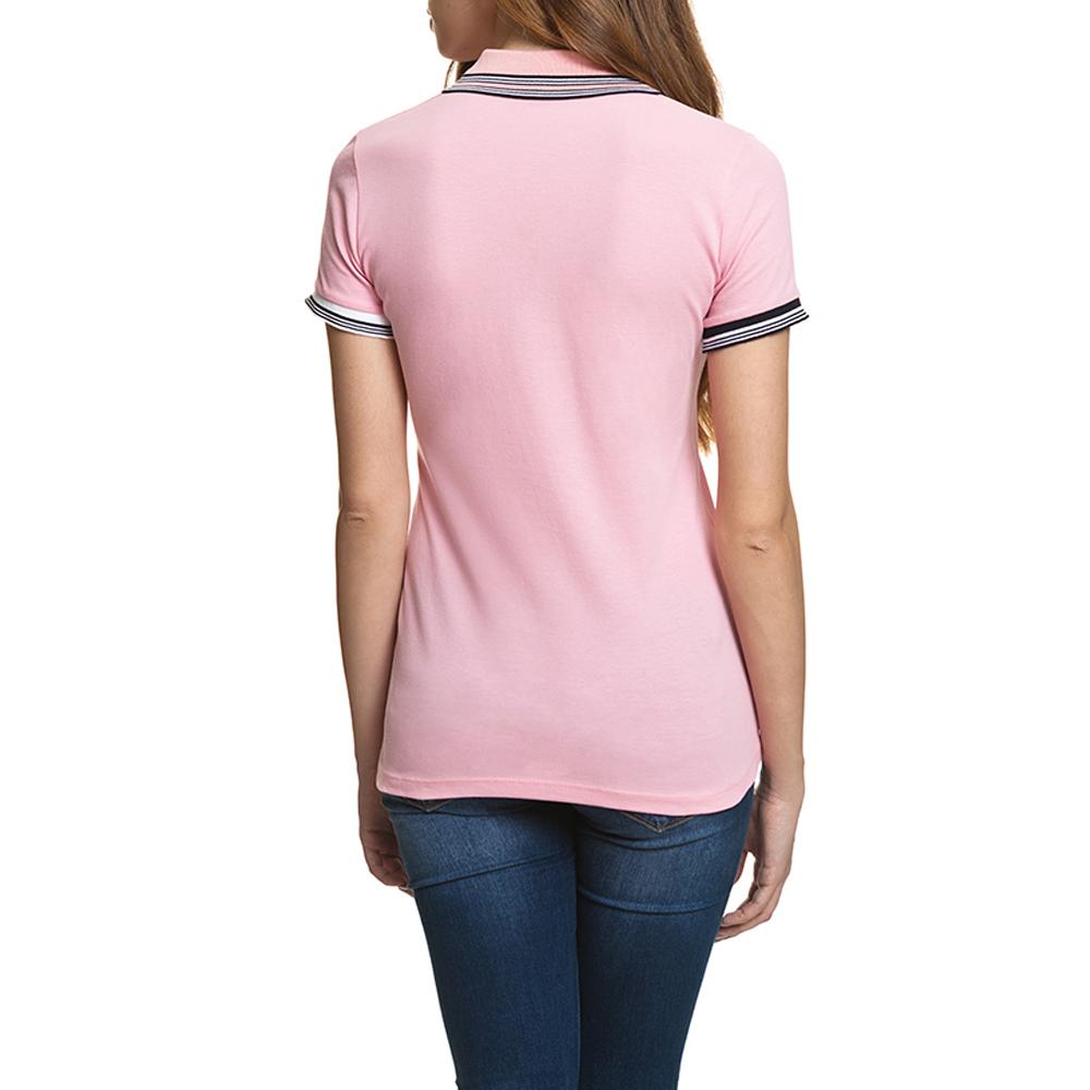 Polo m/corta mujer slim fit - rosa
