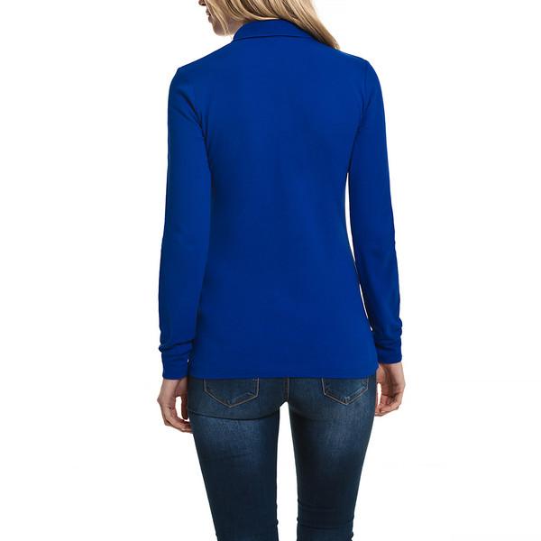 Polo m/larga slim fit mujer - azul