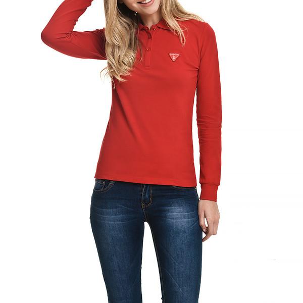 Polo m/larga slim fit mujer - rojo