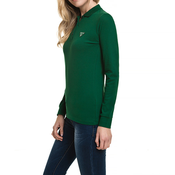 Polo m/larga mujer slim fit - verde oscuro