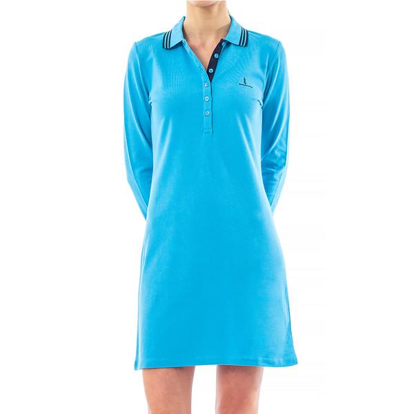 Vestido slim fit mujer - turquesa
