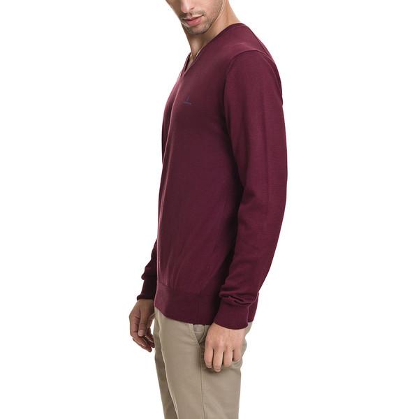 Jersey slim fit hombre - burdeos