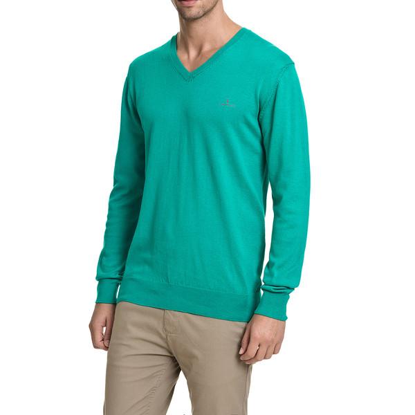 Jersey slim fit hombre - verde