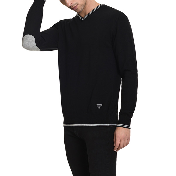 Jersey slim fit hombre - negro
