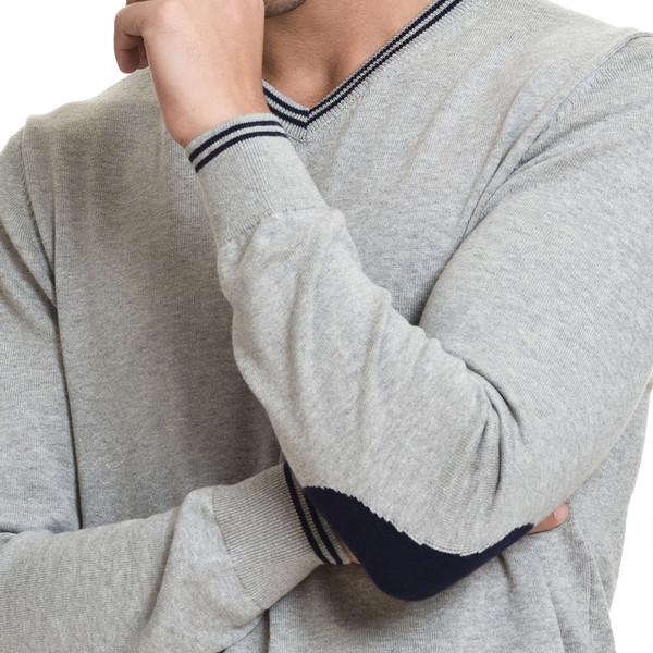 Jersey slim fit hombre - gris