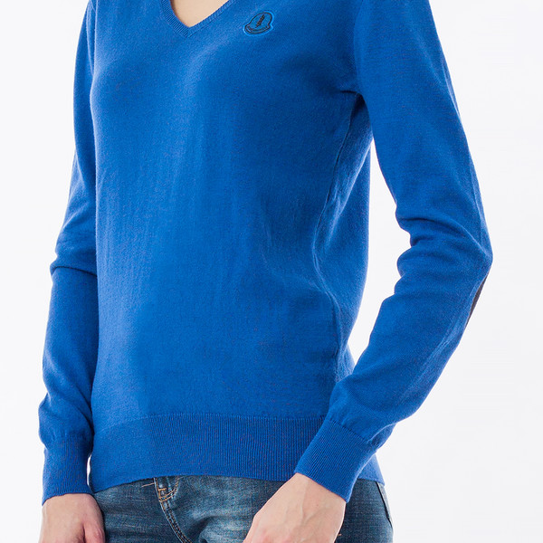 Jersey slim fit mujer - azul
