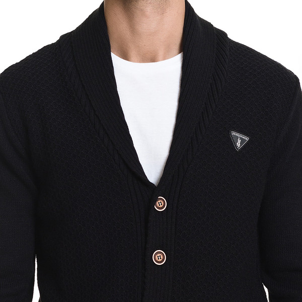 Cárdigan Logroño slim fit - negro
