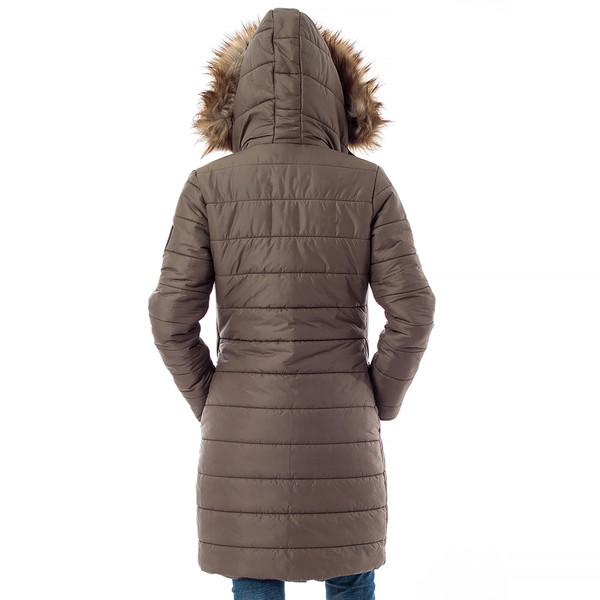 Abrigo mujer slim fit - kaki
