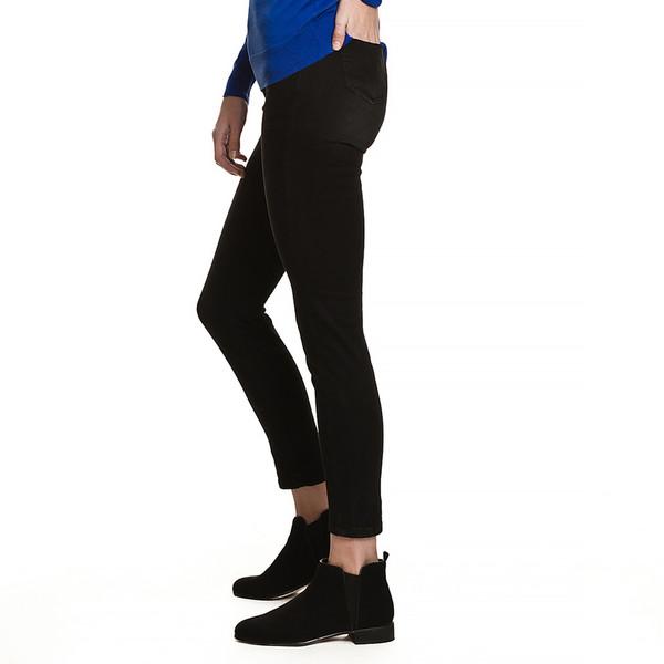 Pantalón jean slim fit mujer - negro