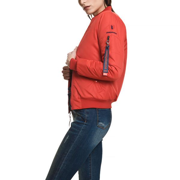 Chaqueta bomber mujer slim fit - rojo
