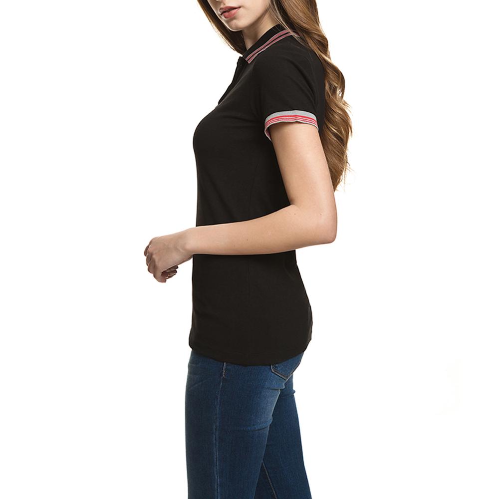 Polo m/corta mujer slim fit - negro