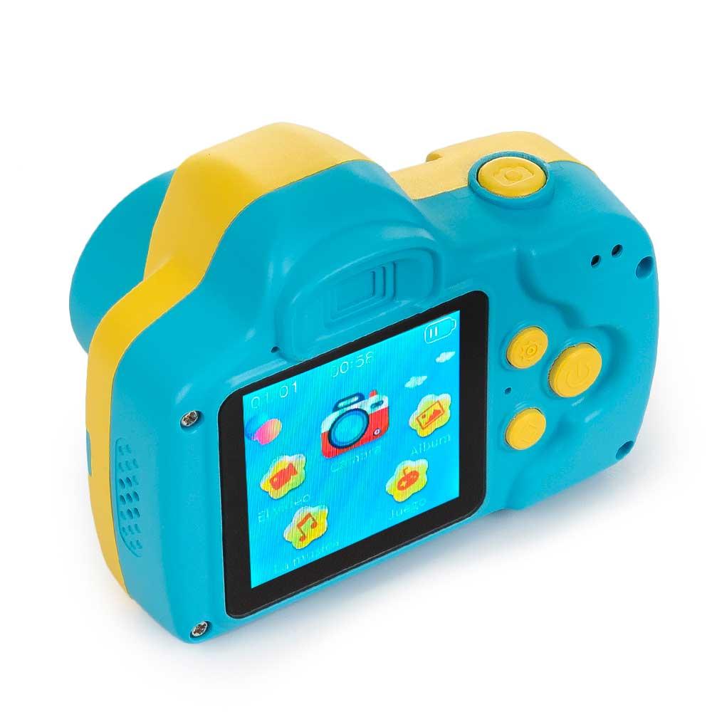Cámara de foto/vídeo para niños c/juegos - azul
