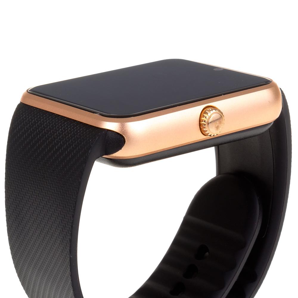 Smartwatch bluetooth GT08 - negro dorado