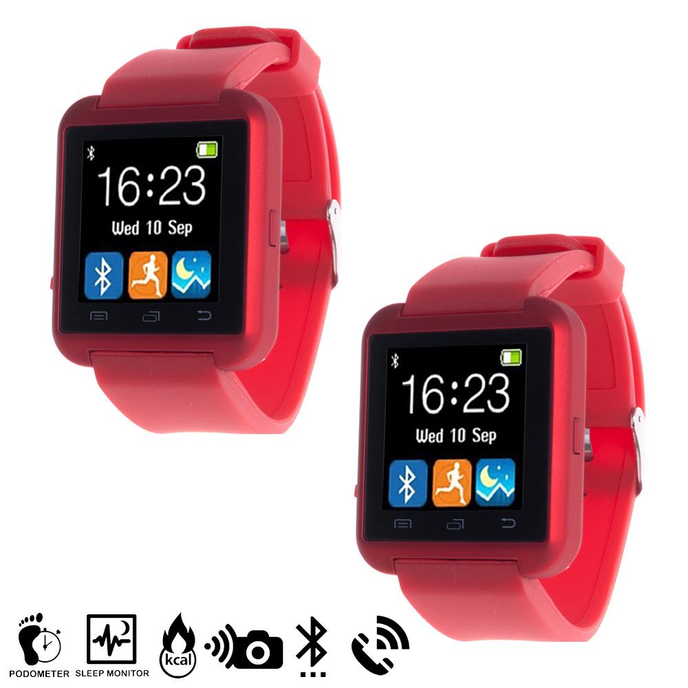 Smartwatch multifunción Bluetooth - rojo