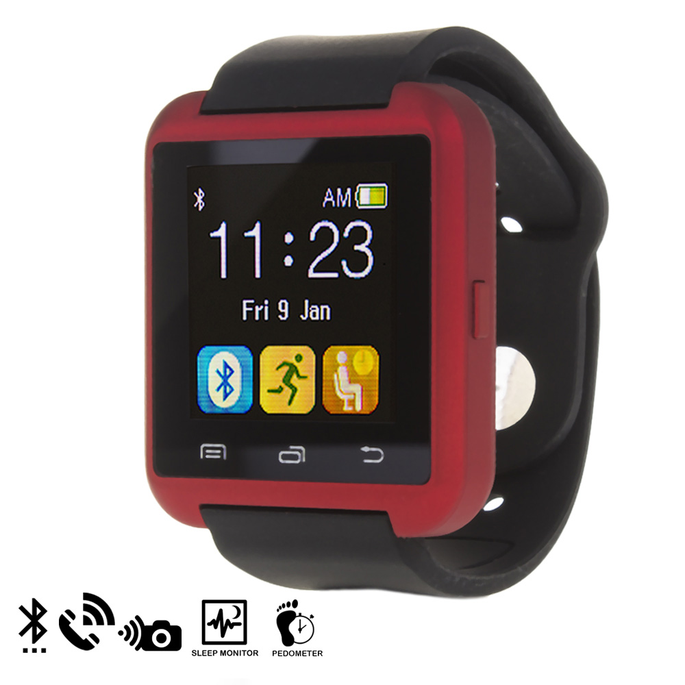 Smartwatch bluetooth U80 - rojo