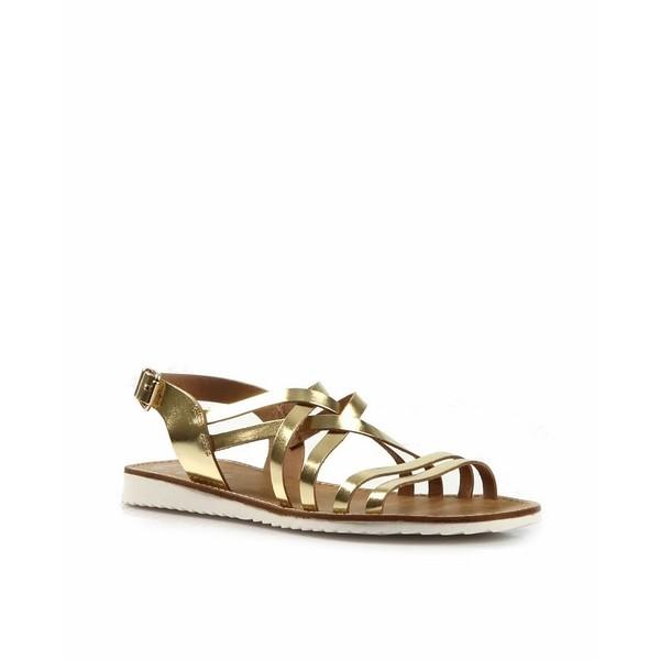 Sandalia plana - dorado
