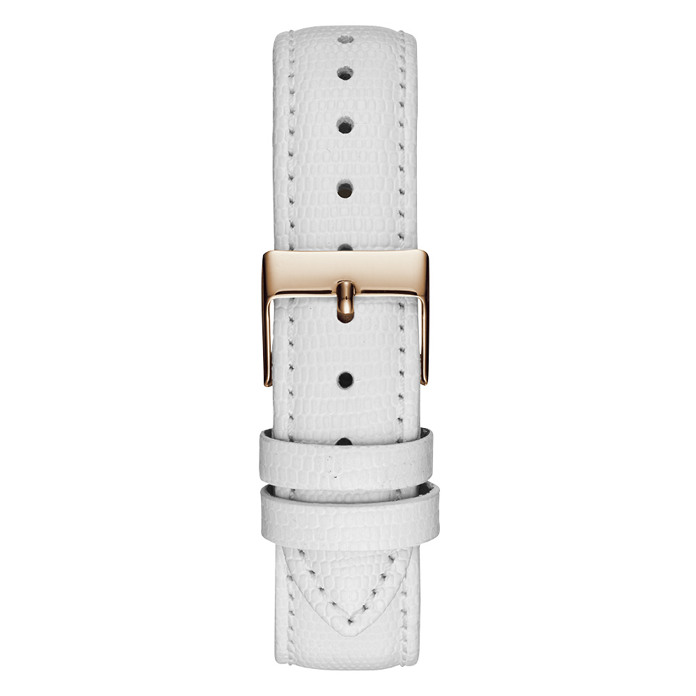 Reloj analógico piel mujer - blanco