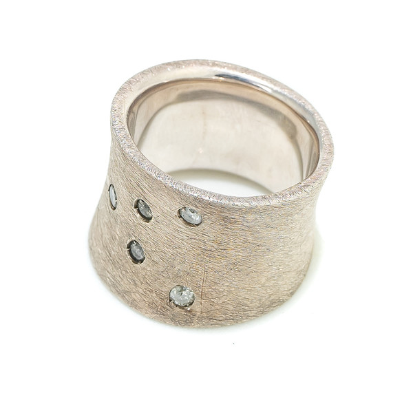 Anillo plata mujer t.16 - gris