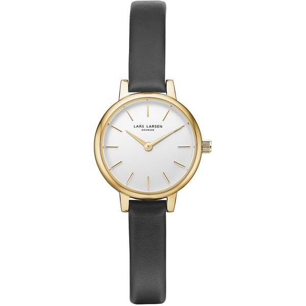 Reloj analógico mujer piel - negro