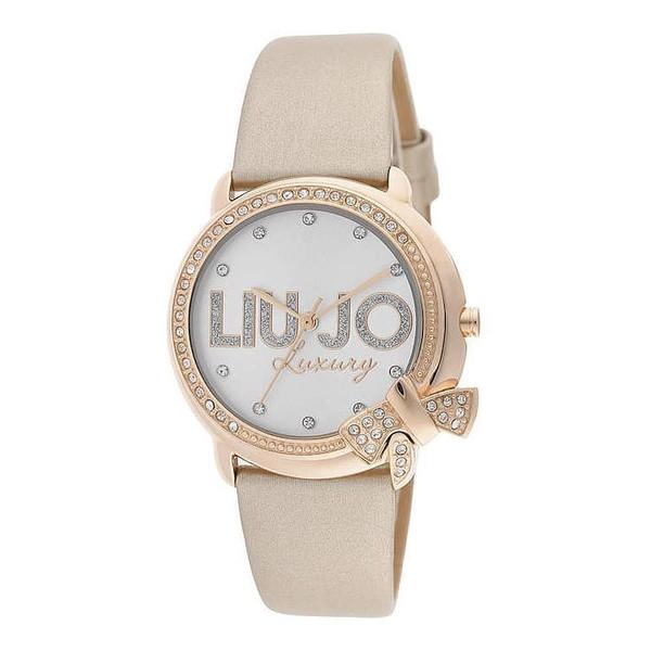 Reloj analógico piel mujer - beige