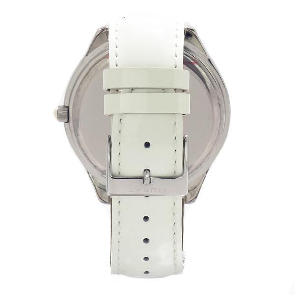 Reloj analógico mujer piel - blanco