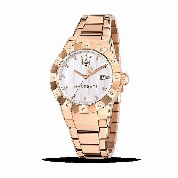 Reloj analógico mujer - oro/rosa