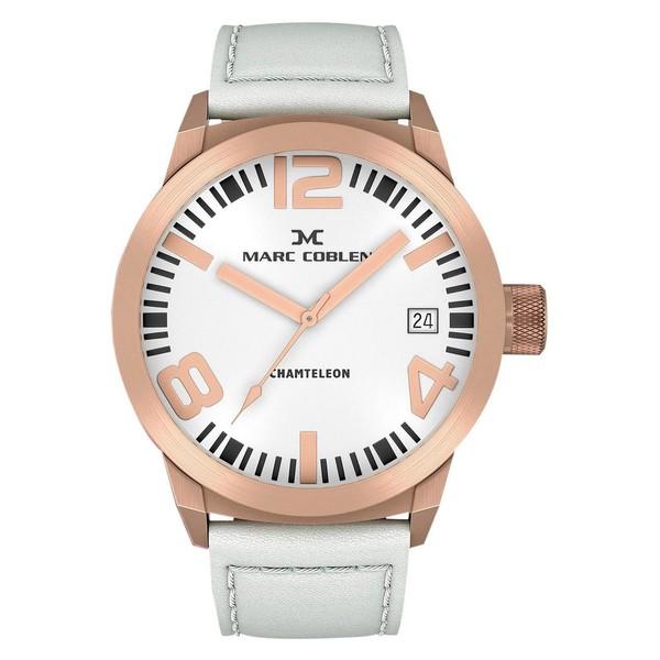 Reloj analógico piel hombre - blanco