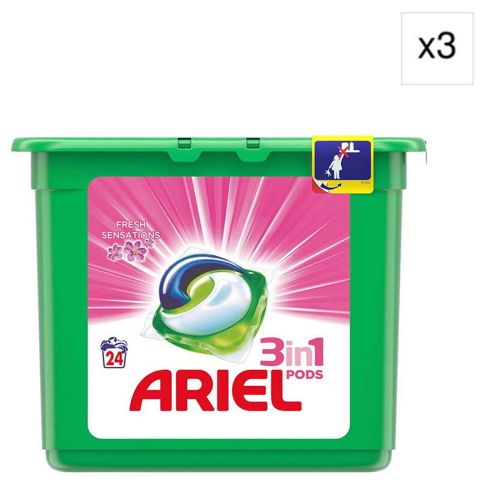 Pack 3 Ariel 3en1 tabs sensaciones 24