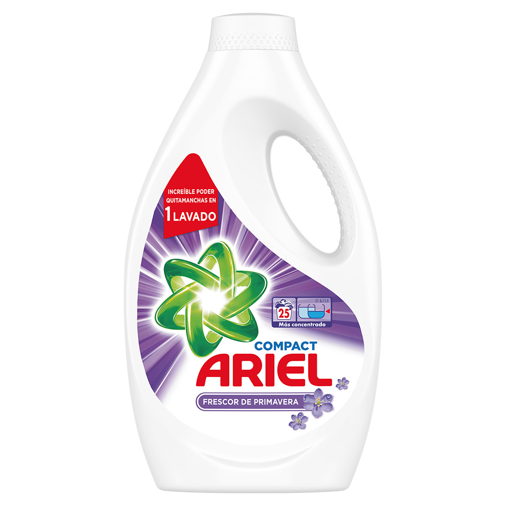 PACK 4 Detergente líquido Ariel frescor primavera 25 lavados