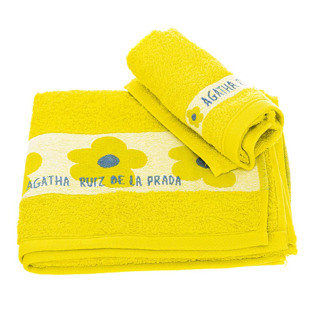 Set Toalla lavabo + toalla tocador - verde