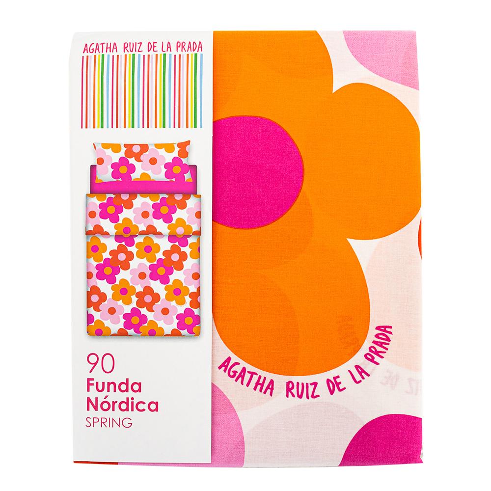 Funda nórdica para cama 90 Ágatha flores - naranja
